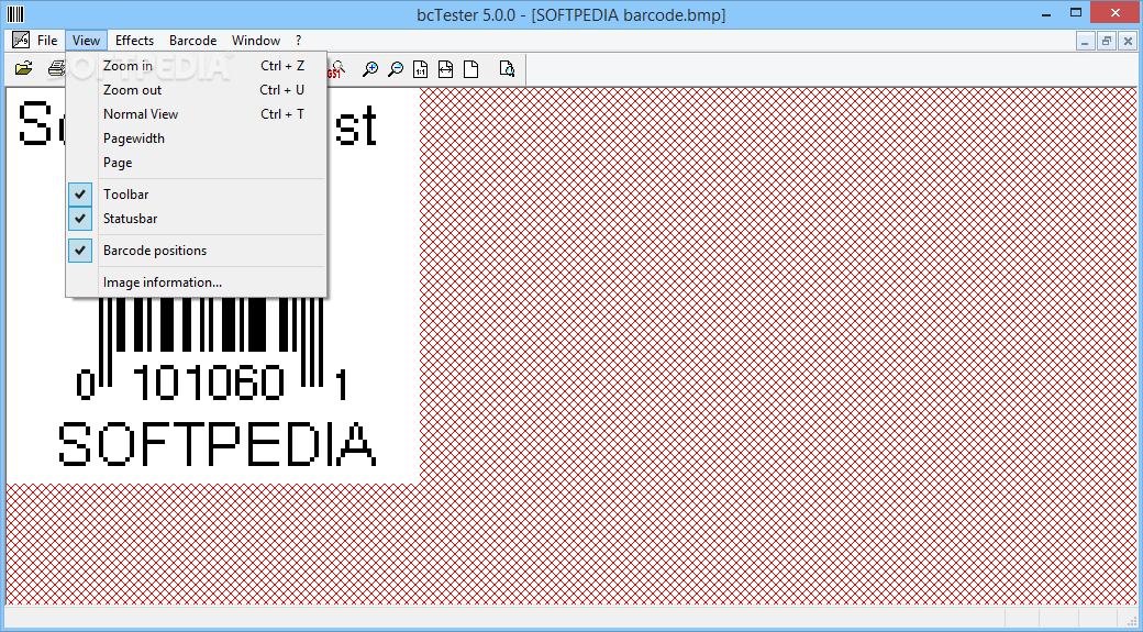 Phần mềm quét mã vạch bcTester