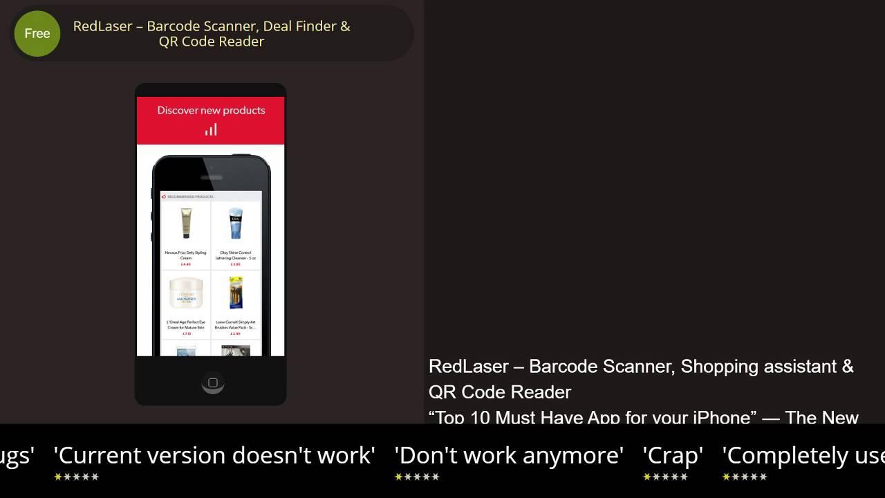 Phần mềm quét mã vạch sản phẩm trên Android - RedLaser