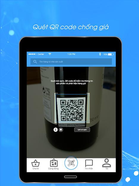 Phần mềm Barcode Việt - Ứng dụng quét mã vạch phát hiện hàng giả