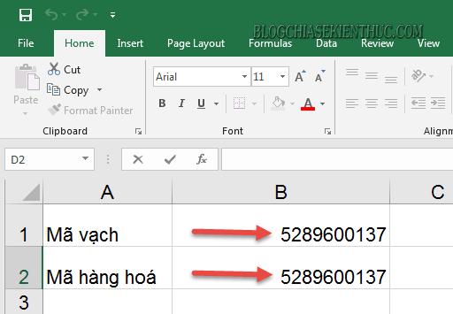 Cách in mã vạch bằng excel đơn giản nhất