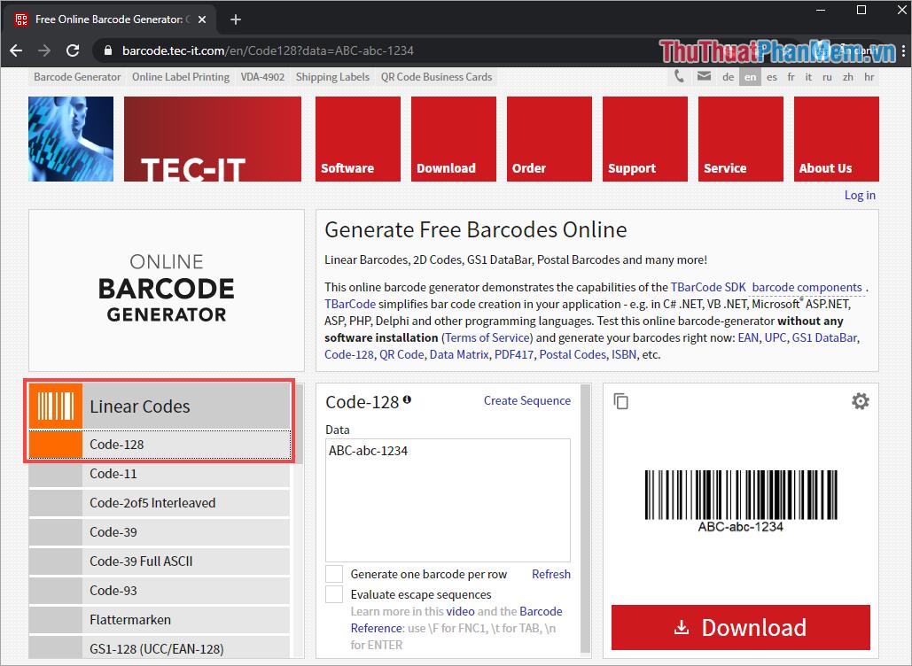 Cách tạo mã vạch online bằng Barcode nhanh nhất