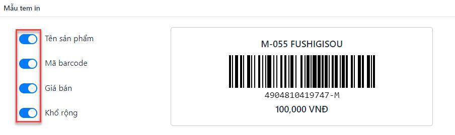 Hướng dẫn in mã vạch Sapo trên các sản phẩm