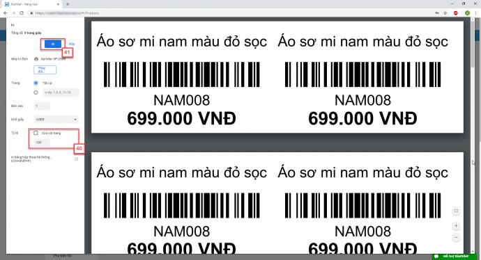 Ứng dụng phần mềm in mã vạch Kiotviet trong quản lý bán hàng