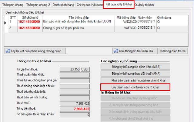 Cách in mã vạch trên Ecus tờ khai hải quan xuất nhập khẩu