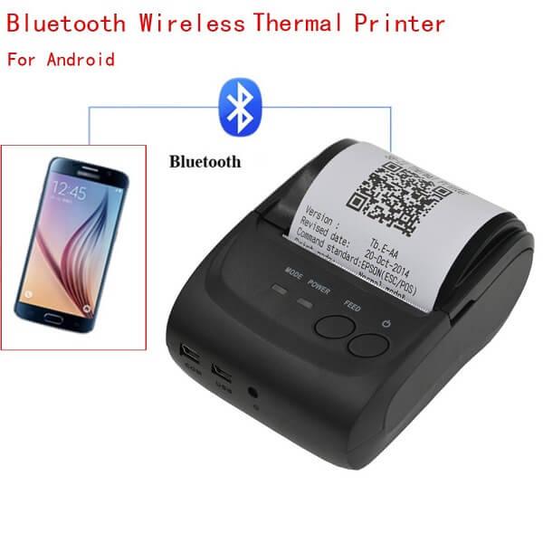 Máy in mã vạch qua điện thoại kết nối thông qua Blutooth