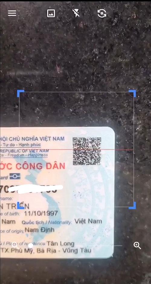 Cách quét mã vạch căn cước công dân có gắn chip