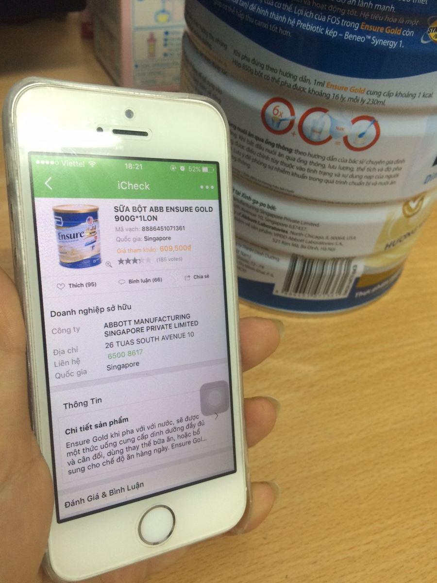 Cách quét mã vạch sữa Abbott Grow để phân biệt thật - giả